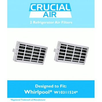 Crucial Air 2 Whirlpool Air1 Refrigerator Air Filters, Part # W10311524, 2319308 & W10335147