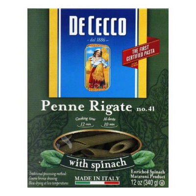 Kehe Distributors Dececco Penne Rigate With Spinach 12-Ounce (Pack Of 12)
