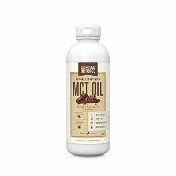 NEW! Emulsified MCT Oil Creamer, Chocolate *Best Keto MCT Oil for Mixing in Drinks * Unsweetened – NO Palm Oil, made with Organic Coconuts from the Philippines by Natural Force, 16oz