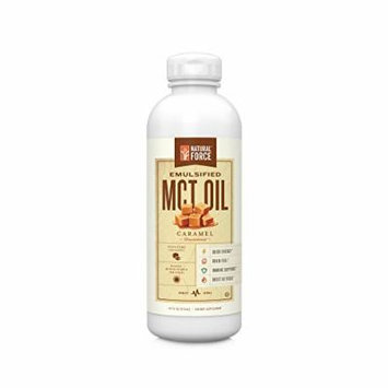 NEW! Emulsified MCT Oil Creamer, Caramel *Best Keto MCT Oil for Mixing in Drinks * Unsweetened – NO Palm Oil, made with Organic Coconuts from the Philippines by Natural Force, 16oz
