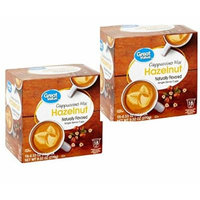 Great Value Hazelnut Cappuccino Mix Single Serve Cups, 0.53 oz,18 count (Pack of 2 )