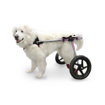 Handicappedpets.com Dog Wheelchair For Large Dogs 70-180 lbs Pink - By Walkin' Wheels