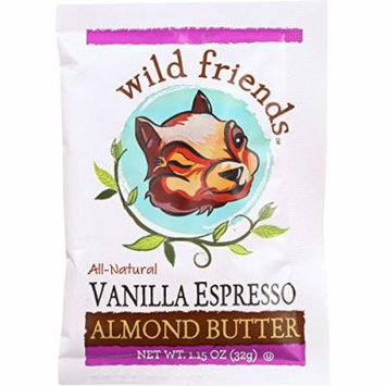 Wild Friends Almond Butter - Vanilla Espresso - Single Serve Packets - 1.15 oz - case of 10 - Dairy Free - Yeast Free - Wheat Free-Vegan