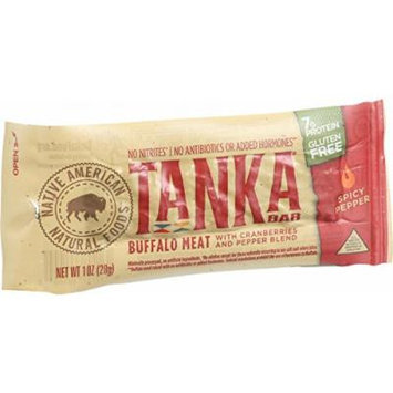 Tanka Bar - Buffalo with Cranberry - Spicy Pepper Blend - 1 oz - Case of 12 - Gluten Free - Dairy Free - Yeast Free - Wheat Free -
