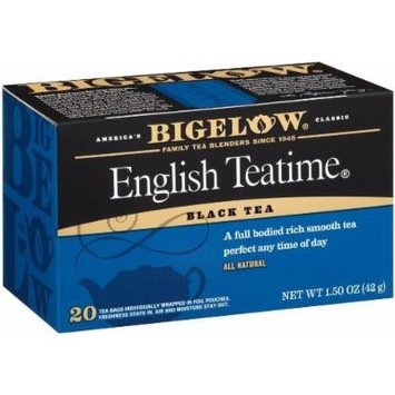Bigelow English Teatime Tea, 20-Count Boxes (Pack of 6) by Bigelow Tea