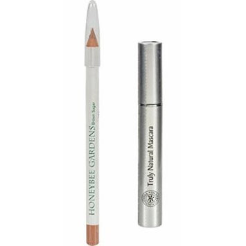 Honeybee Gardens Brown Sugar Effortless Eye Liner and Chocolate Truffle Truly Natural Mascara with Coconut, Saw Palmetto Fruit, Avocado Butter, Olive Fruit Oil and Candelilla Wax, 0.04 oz and 0.2 oz