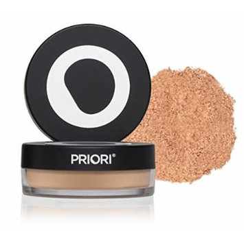 Priori Minerals fx Broad Spectrum 25, All-Natural Powder Foundation, Skin Protection, Correction, Perfection, sunscreen protection SPF25, Loose Makeup Minerals, Suits Sensitive Skin, 5 g (Shade 4)