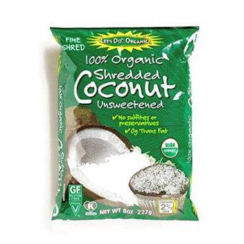 Let's Do Organic Shredded Coconut 8 oz each (6 Items Per Order)