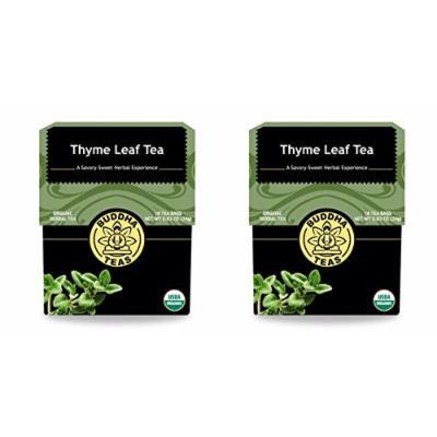Organic Thyme Leaf Tea - Kosher, Caffeine Free, GMO-Free - 18 Bleach Free Tea Bags (2 pack)