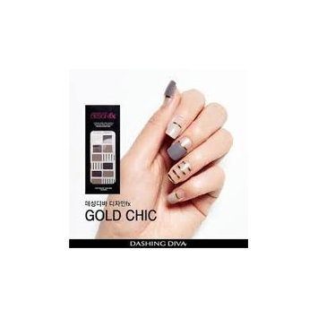 Dashing Diva Design FX, Inspiring Nail Art, For Finger and Toes, 16 Nail Strips, #085 Gold Chic