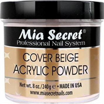 Mia Secret Cover Acrylic Powder -NUDE BLUSH /PINK /ROSE /BEIGE 0.5oz/1oz/2oz/4oz + FREE Temporary Tattoo! (8 oz, Beige)