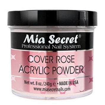 Mia Secret Cover Acrylic Powder -NUDE BLUSH /PINK /ROSE /BEIGE 0.5oz/1oz/2oz/4oz + FREE Temporary Tattoo! (8 oz, Rose)