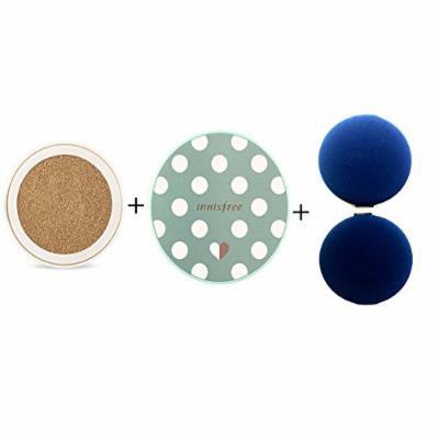 Innisfree Skinny coverfit cushion SPF34 PA++(R) 1ea + Case 1ea + Puff 2ea SET #1. N21 Natural Beige (#9)