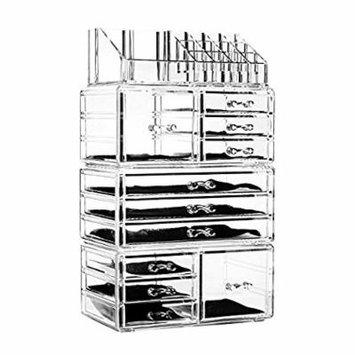 Unique Home Acrylic Jewelry & Cosmetic Storage Makeup Organizer Display Box (4 Piece Set New)
