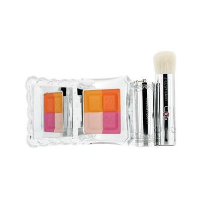 Jill Stuart Mix Blush Compact N (4 Color Blush Compact + Brush) - # 04 Candy Orange - 8g/0.28oz
