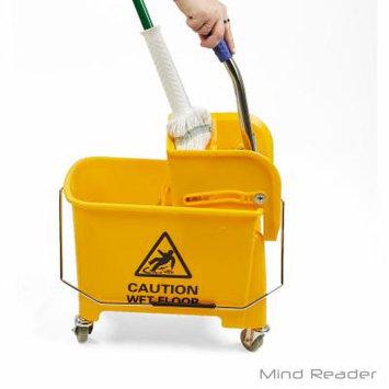 Mind Reader 20 Liter Mop Wringer Trolley, Yellow