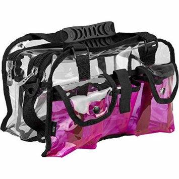 Casemetic Giardino Carry Clear Set Makeup Bag, Pink, 2 Pound