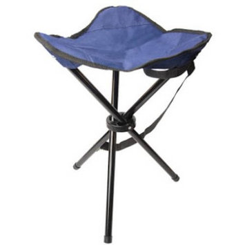 ALEKO CSW3L Outdoor Foldable Camping Tripod Chair Fishing Stool Portable Hiking Beach Travel Seat, Blue