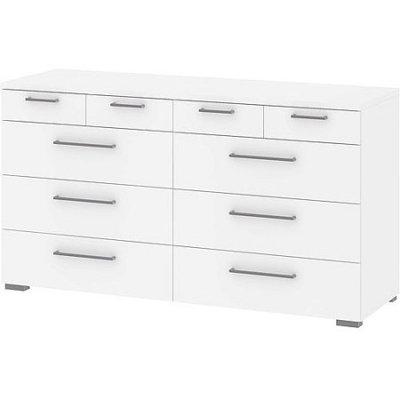 Aria 10-Drawer Dresser, White