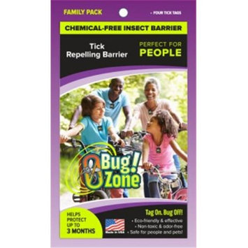 0Bug Zone Tick Family Pack Barrier Tags for People