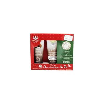 Coconut Holiday Gift Set Body Butter + 3-in-1 Shampoo, Conditioner & Body Wash - Gift Set by Nature's Gate (pack of 1)