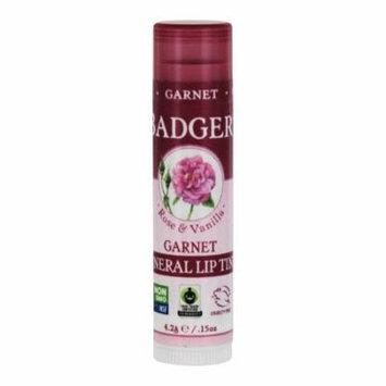 Badger - Mineral Lip Tint Rose & Vanilla Garnet - 0.15 oz. (pack of 4)