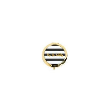 IN-13791252 Black & White Striped Pop Bubbly Gold Compact Mirrors 6 Piece(s)