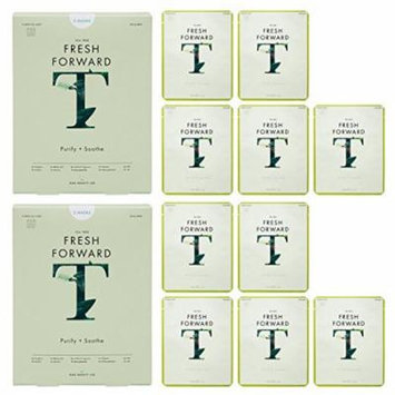 Rael Fresh Forward Face Mask Sheet With Tea Tree Oil (5 Sheets) 2 Packs/10 Total : Clarifying and Soothing Face Mask for Acne Prone Skin. Infused with Tea Tree Oil and Botanical Extracts. ?