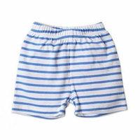 Zutano Baby Shorts- Periwinkle Breton, 6 Months
