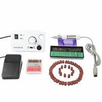 Electric Nail Drill 20000 RPM Fast Machine Manicure Pedicure Nail Machine Acrylics Gel Polish Pro Salon Set