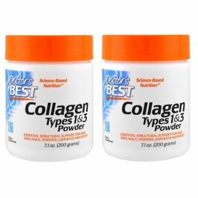 Doctor's Best, Best Collagen, Types 1 & 3, Powder, 7.1 oz (200 g) - 2 Packs