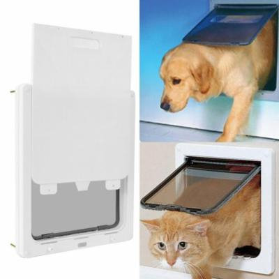 Clearance! Studiostore Dual Entry Pet Door White, Lockable Telescoping Frame,Extra Large for pet to 90 lbs STDTE