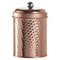 Global Amici Amici Mauritius Round Metal Hammered Canister, Copper - Set of 4
