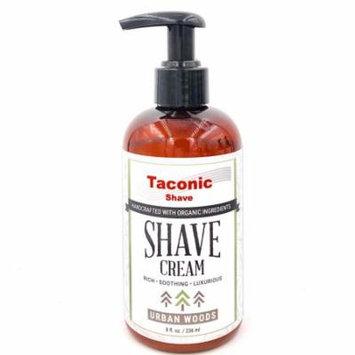 Taconic Shave Urban Woods Shaving Cream, Pump Bottle, High Lather Forumla, 8 oz