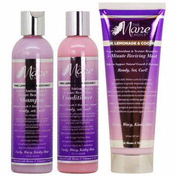 The Mane Choice Pink Lemonade & Coconut Shampoo + Conditioner + 5 Minute Reviving Mask