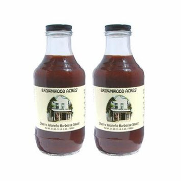 Brownwood Acres Cherry Jalapeño Barbeque Sauce - 2 PACK -