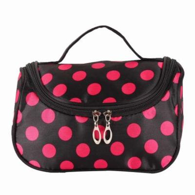 Portable Cosmetic Bag Satin Makeup Storage Bag Dot Print Travel Toiletry Bags PAGACAT