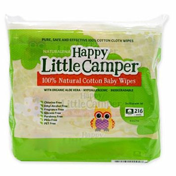 Happy Little Camper Natural Baby Wipes, 3 packs of 72 (216 count)