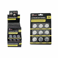 Diamond Visions Max Force 2220642 9 Piece Lithium Battery Card Multipack (18 Assorted Batteries)