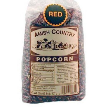 Amish Country Popcorn - Red Popcorn 1 Lb Bag - with Recipe Guide - Old Fashioned, Non GMO, Gluten Free - 1 Year Freshness Guarantee