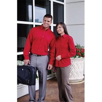 Whispering Pines Sportwear 628 Ladies Long Sleeve Non Stick Surface Soil Release Woven Shirt, Khaki, 2XL