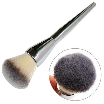 Powder Brush,Cosmetic Makeup Brush Foundation Face Blush Loose Powder Brush Kabuki Brush Silver