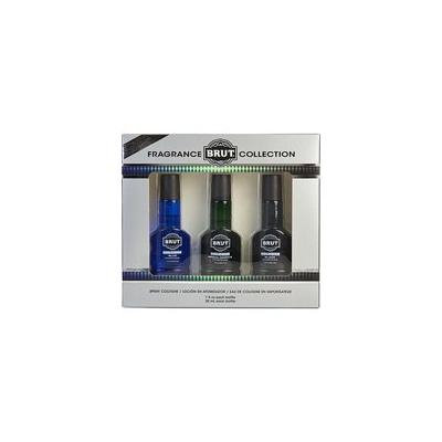 BRUT VARIETY by Faberge - 3 PIECE VARIETY WITH BLACK, BLUE & SPECIAL RESERVE & ALL ARE COLOGNE SPRAY 1 OZ (GLASS BOTTLES) - MEN