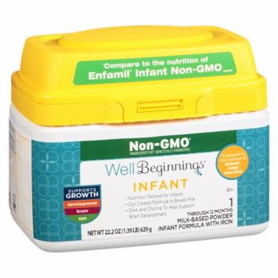 Well Beginnings Dual Prebiotic Non-GMO Infant Formula 22.2 oz.(pack of 2)