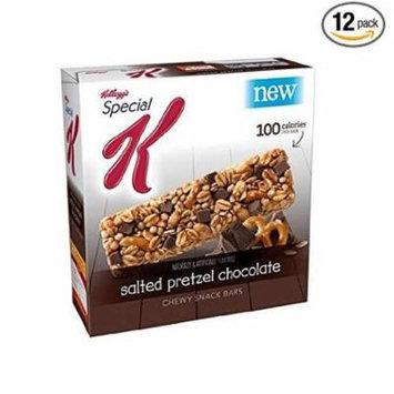 8 PACKS : Kelloggs Special K Snack Bars Salted Pretzel Chocolate 0.88 Oz