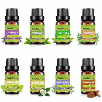 Top 8 essential Oils,Pure & Therapeutic Grade Aromatherapy Essential Oil Set Jasmine,Rosemary,Cinnamon,Lavender,Peppermint,Frankincense,Tea Tree,Lemongrass Fragrance Oils