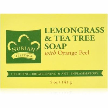 4 Pack - Nubian Heritage Bar Soap, Lemon Grass & Tea Tree 5 oz