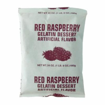 Red Raspberry Instant Gelatin - 1.5 Lb Pouch