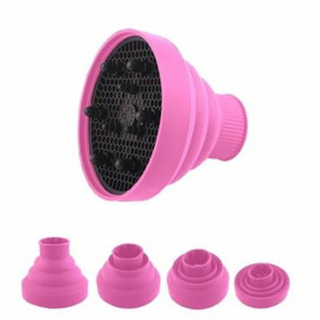New Foldable Collapsable Hairdryer Diffuser For Curly & Straight Hair -Pink