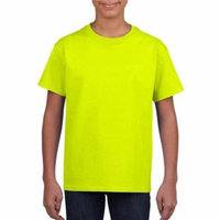 DDI 1997460 Irregular Youth Gildan T-Shirt Style 2000 Safety Green - Extra Large Case of 12